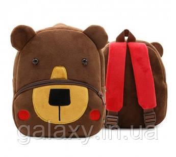 Рюкзак Мишка для мальчика детский плюшевый Медведь