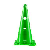 Фишки конусы World Sport разметочные зеленые с отверстиями высота 38см SKL83-281882