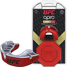 Капа боксерська Opro Gold Ufc Hologram Red Metal-Silver M24-277187