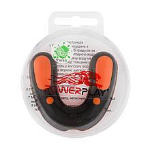 Капа боксерська PowerPlay SR оранжево-чорна mint 3315 M24-190122