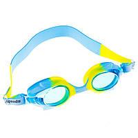 Очки для бассейна детские и подростковые голубые Sainteve 4600 SKL11-282835