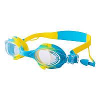 Окуляри для басейну дитячі та підліткові блакитні Speedo S66 SKL11-282836