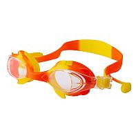 Окуляри для басейну дитячі та підліткові помаранчеві Speedo S66 SKL11-282838