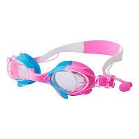 Окуляри для басейну дитячі та підліткові рожеві Speedo S66 SKL11-282840