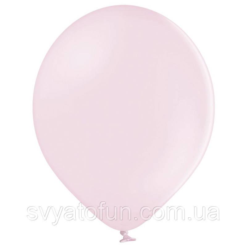 """Латексні кульки 12"""" пастель В105/454 світло-рожевий макарун 50шт/уп BelBal"""