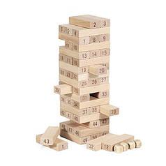 Настільна дерев'яна гра Дженга Lesko QQ-5180 вежа брусок 51
