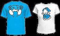 """Парные футболки """"Смурфики"""""""