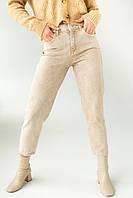 Котонові джинси мом PERRY - бежевий колір, L (40) (є розміри), фото 1