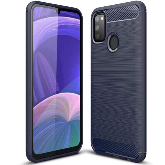 Силиконовый противоударный чехол Polished Carbon для Samsung Galaxy M30s / M21