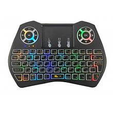 Беспроводная клавиатура мини Riitek Rii Mini i9 PRO тачпад русско-английская раскладка c подсветкой