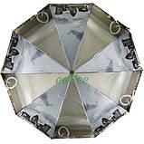 Зонт женский полный автомат складной Zicco 10 карбоновых спиц атласный Лондон Серый 5024, фото 3