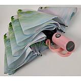 Зонт жіночий напівавтомат складаний Flagman fpa7333 з квітами Орхідеї 10 спиць Білий, фото 4
