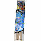 Парасолька жіночий повний автомат складаний Mario 9 спиць антиветер атлас сатин Лондон Блакитний 8005, фото 2