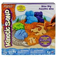 Кинетический песок Wacky-tivities - Kinetic sand Dino (голубой, коричневый, формочки)