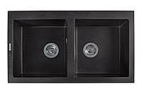 Кухонная мойка гранитная MIRAGGIO WESTEROS black, фото 1