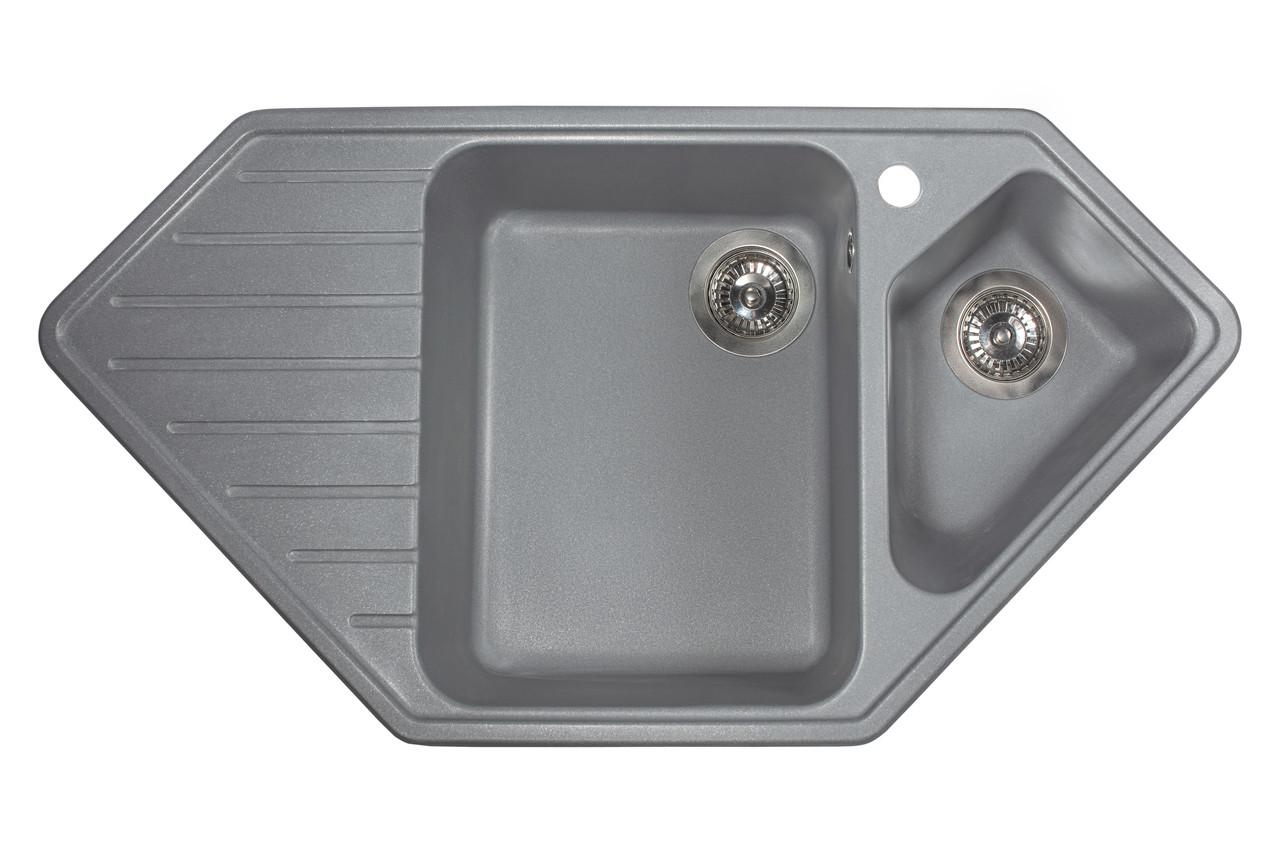 Кухонная мойка гранитная MIRAGGIO TIRRION gray