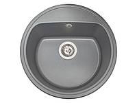 Кухонна мийка гранітна MIRAGGIO MALIBU gray, фото 1