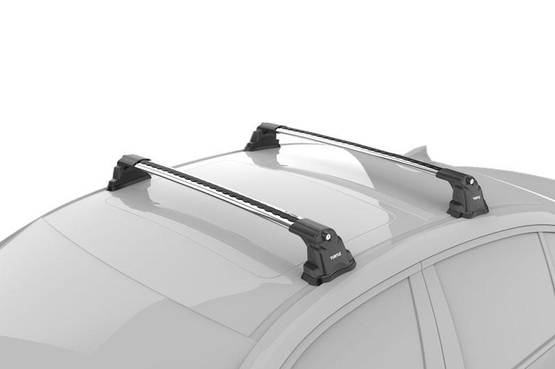 Багажник на крышу Mercedes C-Klass W205 в штатные места серый Turtle