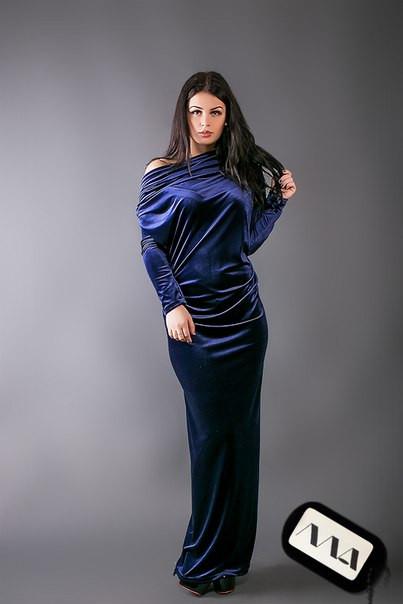 e4ab6aafe90d5b0 Длинное вечернее платье стрейчевый бархат - Интернет-магазин