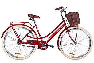 "Велосипед 28"" Dorozhnik COMFORT FEMALE 2020 (рубиновый)"
