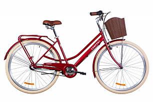 """Велосипед 28"""" Dorozhnik COMFORT FEMALE планет. 2020 (рубиновый)"""