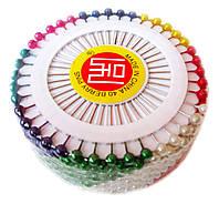 Булавки портновские с шариком (40шт/пластина) Ассорти
