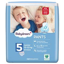 Подгузники-Трусики детские Babydream №5 (12-22 кг) 20 шт