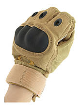 Тактические перчатки с защитой костяшек Coyote 5774