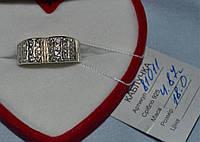 Серебряное  кольцо 925 пробы с цирконами, фото 1