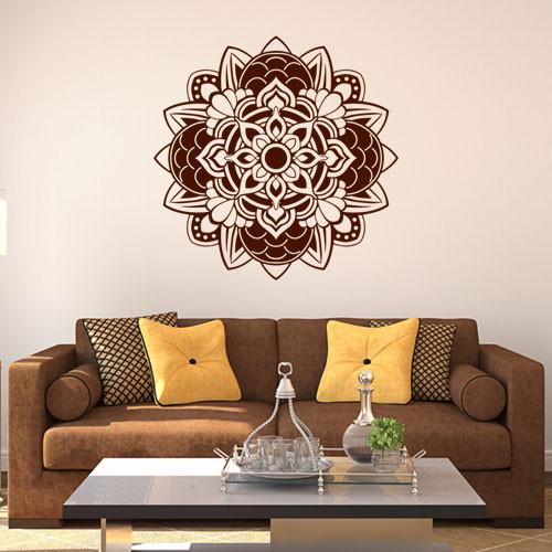 Интерьерная декоративная виниловая наклейка Менди (индийские узоры, орнаменты)