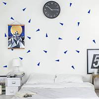Интерьерные виниловые наклейки Треугольники 02 (набор декоративных наклеек на стену)