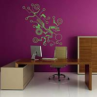 Виниловая интерьерная наклейка Микросхема (наклейки абстракции компьютерная тематика)
