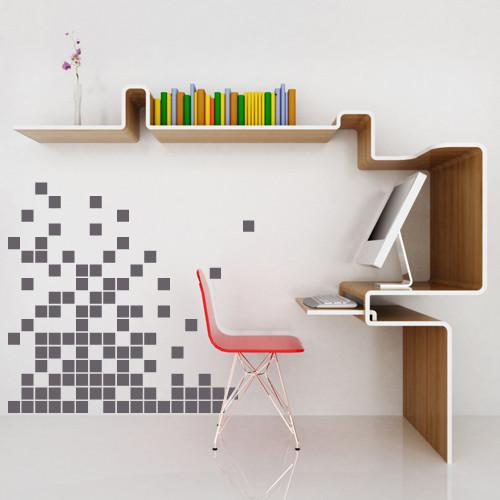 Интерьерная виниловая декоративная наклейка Пиксель (наклейки абстракции компьютерная тематика)