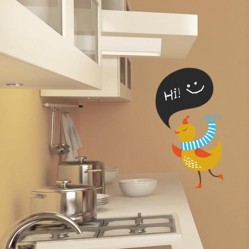 Доска для мела наклейка Деловая птица (самоклеющаяся пленка для рисования мелом) под мел матовая