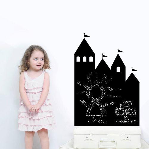 Меловая доска наклейка Сказочный замок (самоклеющаяся пленка для надписей)