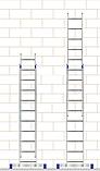 Лестница алюминиевая двухсекционная универсальная (усиленная) 2 х 18 ступеней, фото 5