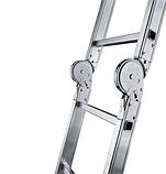 Сходи трансформер алюмінієва професійна чотирьохсекційна 4 x 5 ступенів, фото 2