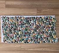 Панель ПВХ Регул Камінь Галька зелена 955х488 мм