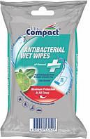 Влажные салфетки Ultra Compact ANTIBACTERIAL (15 штук в упаковке)