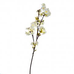 Сакура искусственная большая ветка, белая