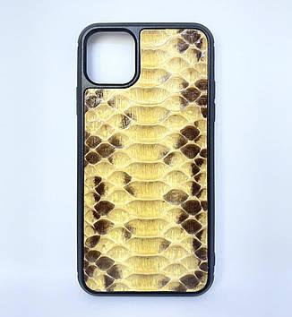 Чехол CaZe для iPhone 11 Pro кожа Питона желтый крупное зерно