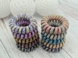 Гумки пружинки Ø4 см силікон/текстиль 20 шт/уп.