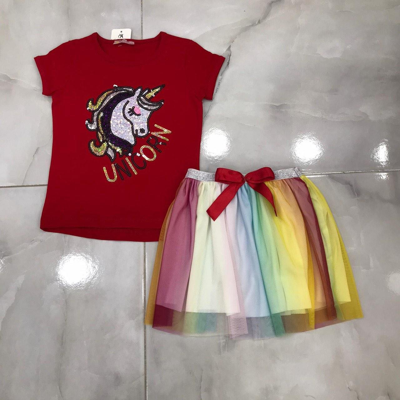 Детский костюм 2-6 лет с юбкой для девочек Турция оптом