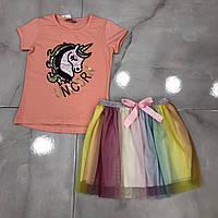 Дитячий костюм 2-6 років для дівчаток оптом Туреччина