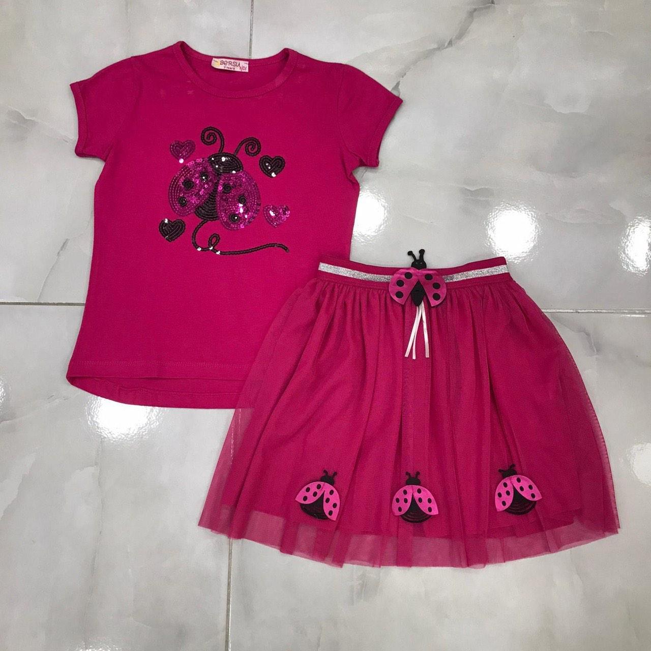 Детский костюм 3-7 лет с юбкой для девочек Турция оптом