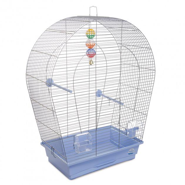 """Клетка для птиц Природа """"Арка большая"""" цинк 44*27*75 см (голубая)"""
