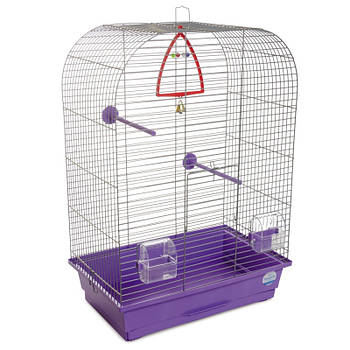 """Клетка для птиц Природа """"Аурика"""" цинк 44*27*64 см (фиолетовая)"""