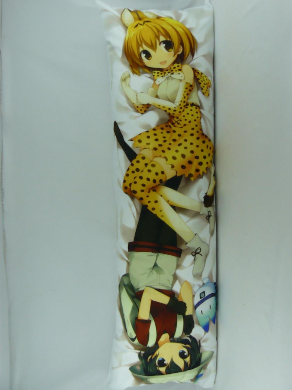 Подушка обнимашка Дакимакура 150 х 50 Кемоно для обнимания аниме со съёмной наволочкой односторонняя