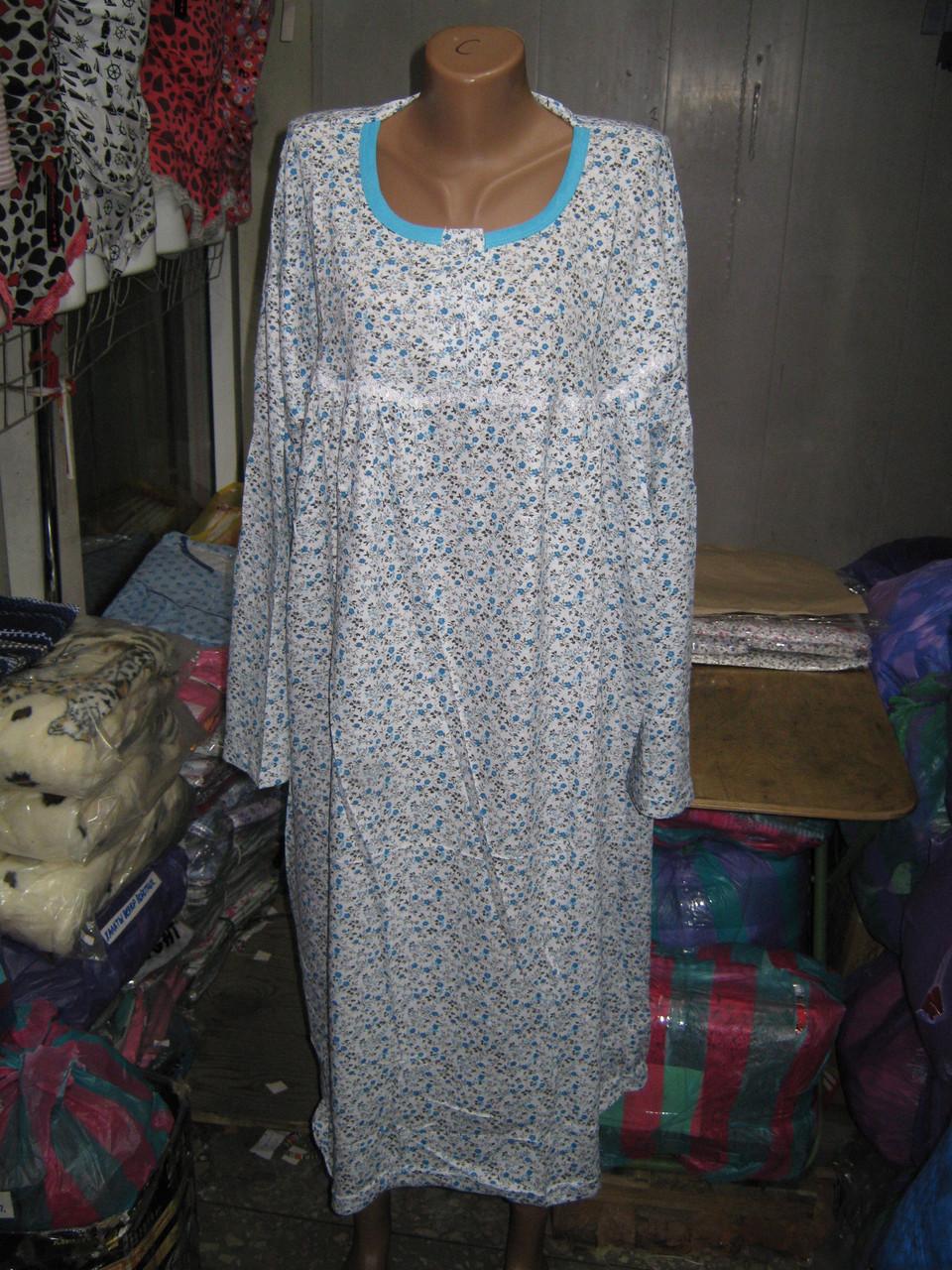 610da3dd52fb148 Ночная рубашка Байка большой размер Мелкий цветок Окантовка: продажа ...