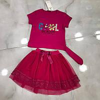 Детский костюм 8-12 лет с юбкой для девочек Турция оптом